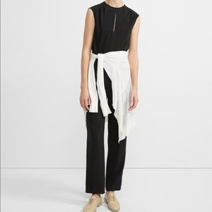 THEORY Shirred Jumpsuit In Classic Crepe